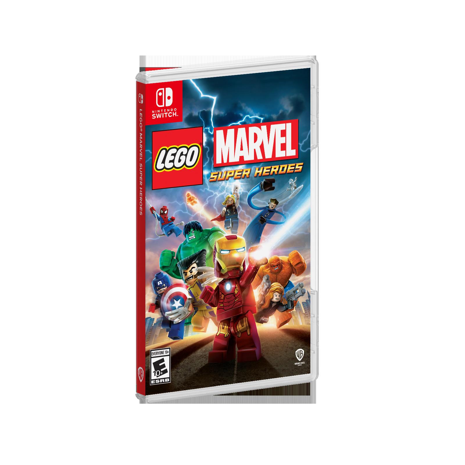 Lego Marvel, Black Widow, Loki, Spider-Man, Nick Fury, Iron Man, Wolverine, Capitán América, Hulk, Thor, Hawkeye, Deadpool, Galactus