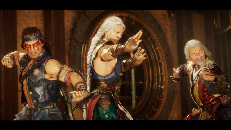 Mortal Kombat 11 Aftermath. Fujin, Shang Tsung y Nightwolf