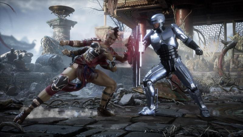 Robocop y Sheeva luchando