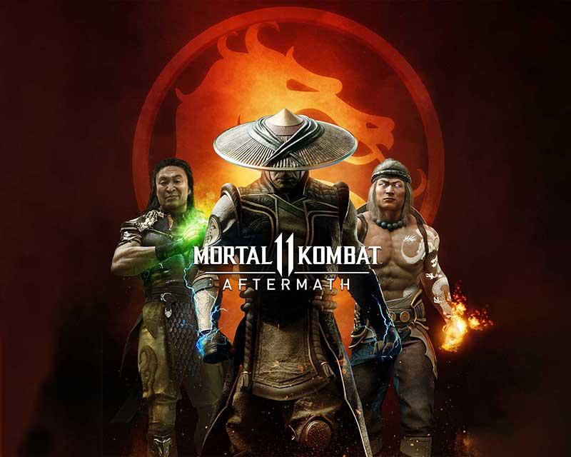 Poster de Anuncio de Mortal Kombat 11 Aftermath.