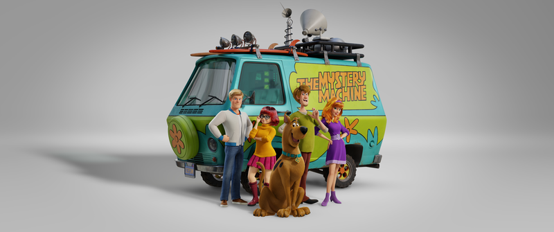 Scooby, WB, mystery machine
